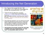 introducing the net generation13