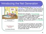 introducing the net generation18