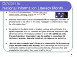 october is national information literacy month
