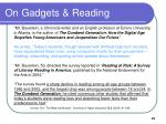 on gadgets reading