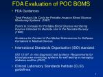 fda evaluation of poc bgms8