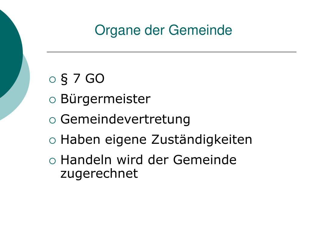 organe der gemeinde l.
