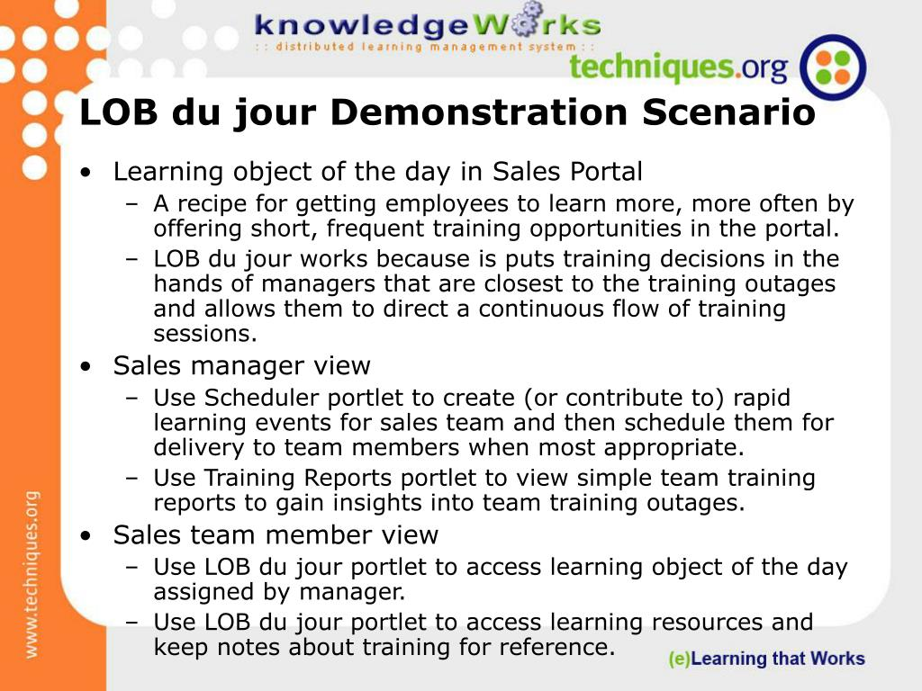 LOB du jour Demonstration Scenario