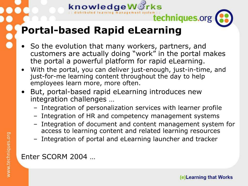 Portal-based Rapid eLearning