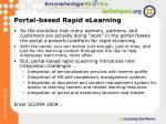 portal based rapid elearning