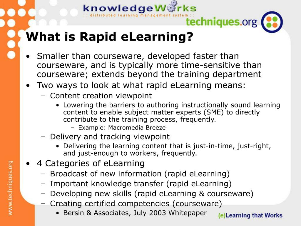 What is Rapid eLearning?