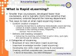 what is rapid elearning