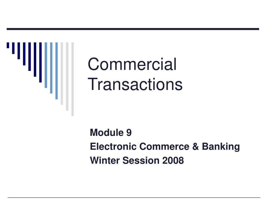 commercial transactions l.