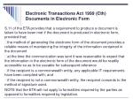 electronic transactions act 1999 cth documents in electronic form