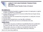 liability for unauthorised transactions section 5 electronic funds transfer code of conduct