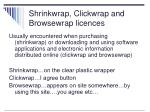 shrinkwrap clickwrap and browsewrap licences