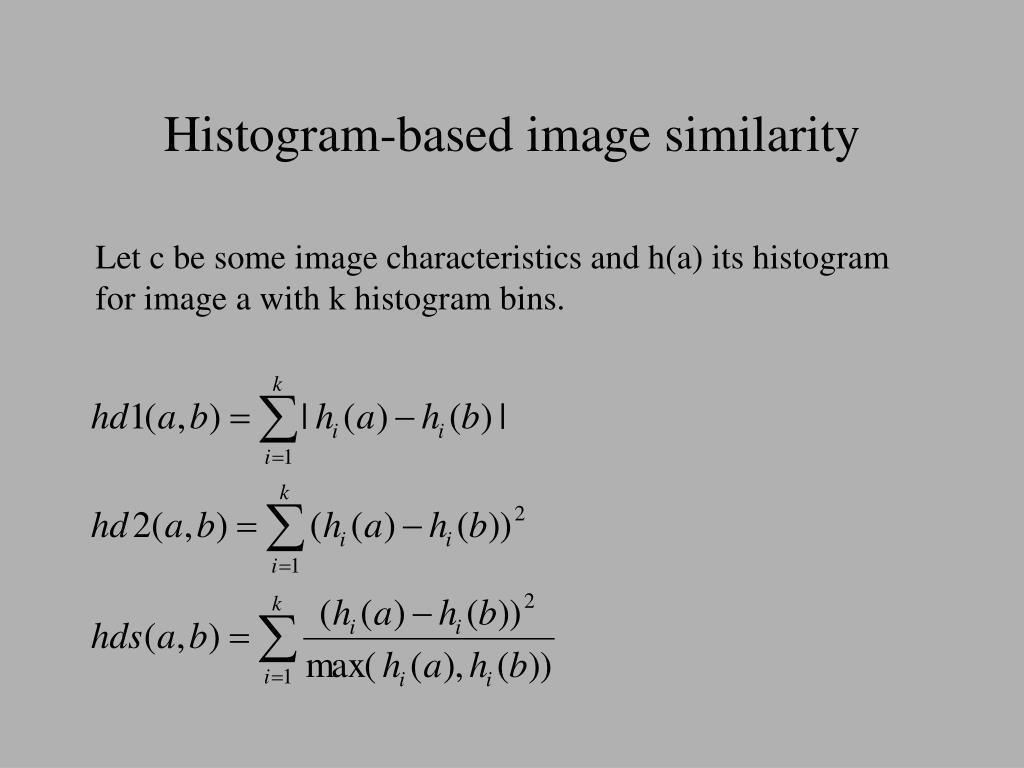 Histogram-based image similarity