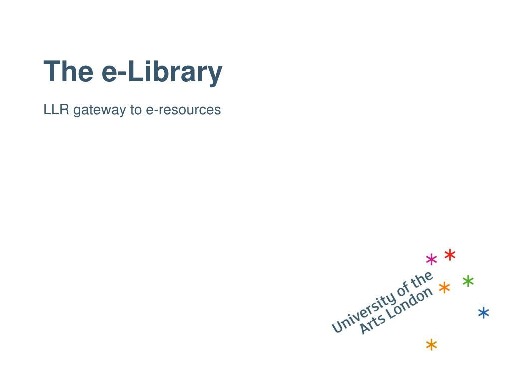 The e-Library