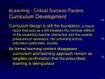 elearning critical success factors curriculum development19