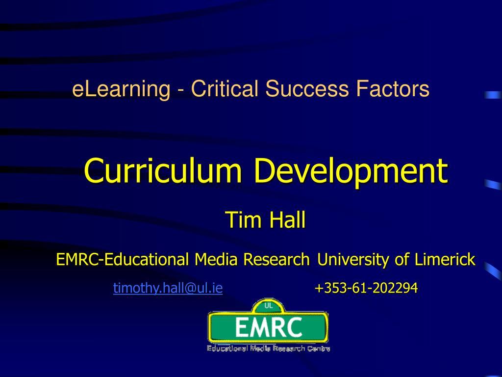elearning critical success factors l.