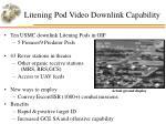 litening pod video downlink capability