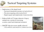tactical targeting systems