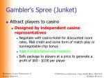 gambler s spree junket
