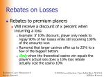 rebates on losses