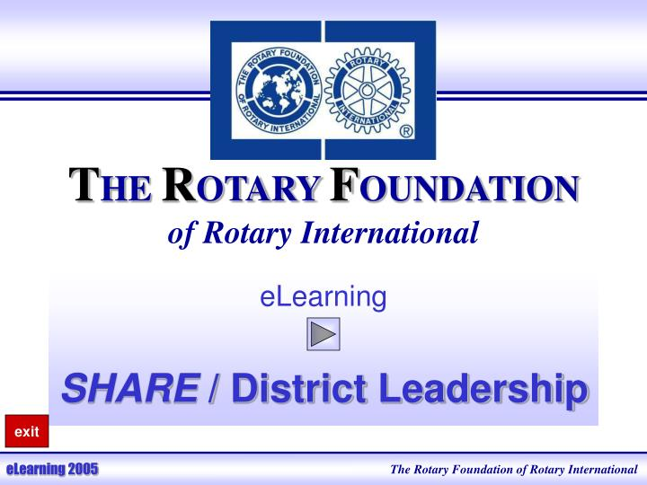t he r otary f oundation of rotary international n.
