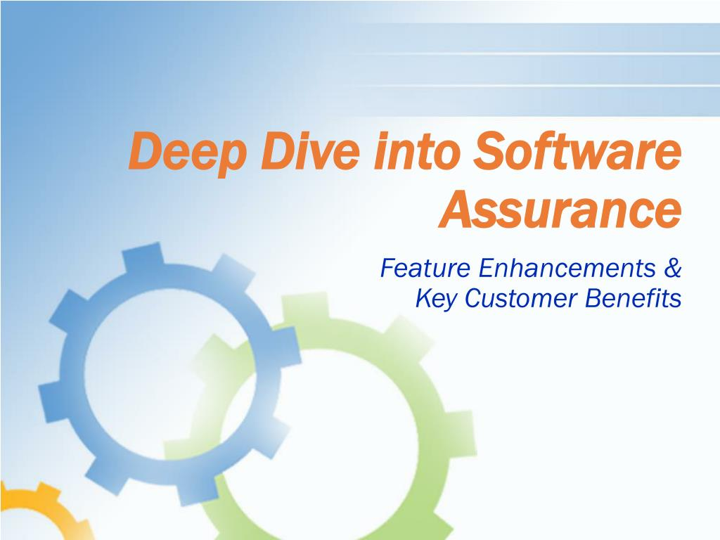 deep dive into software assurance l.