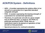 acn pcn system definitions