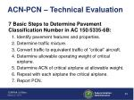 acn pcn technical evaluation