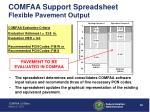 comfaa support spreadsheet flexible pavement output