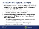 the acn pcn system general