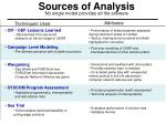 sources of analysis no single model provides all the answers