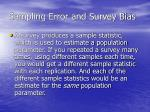 sampling error and survey bias