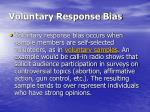 voluntary response bias