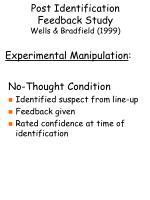 post identification feedback study wells bradfield 199910