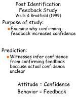 post identification feedback study wells bradfield 19997