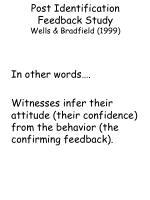 post identification feedback study wells bradfield 19998