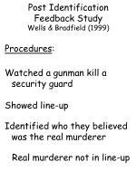 post identification feedback study wells bradfield 19999