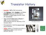 transistor history