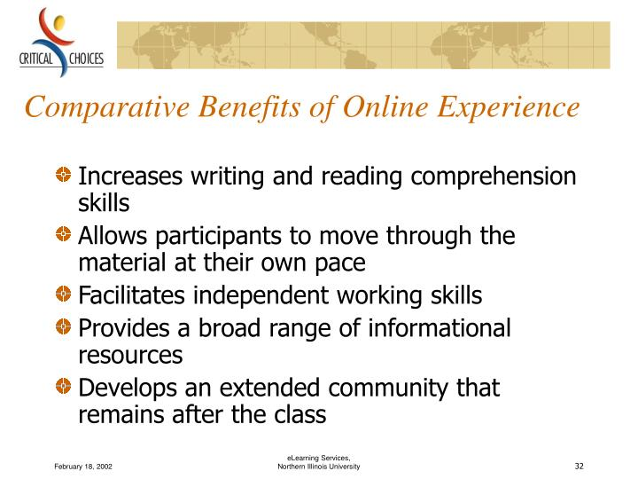 Comparative Benefits of Online Experience