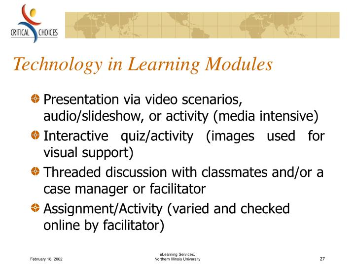 Technology in Learning Modules