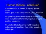 human biases continued12