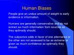 human biases