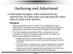 anchoring and adjustment