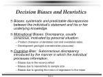 decision biases and heuristics