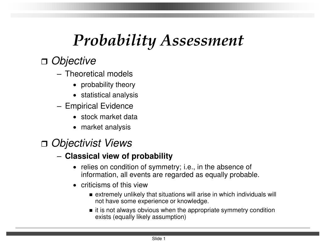 probability assessment l.