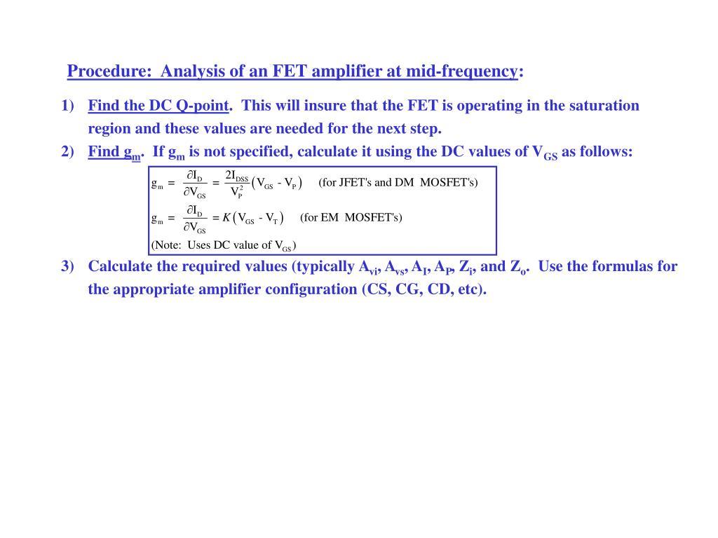 PPT - FET ( Field Effect Transistor) PowerPoint Presentation