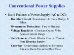 conventional power supplies