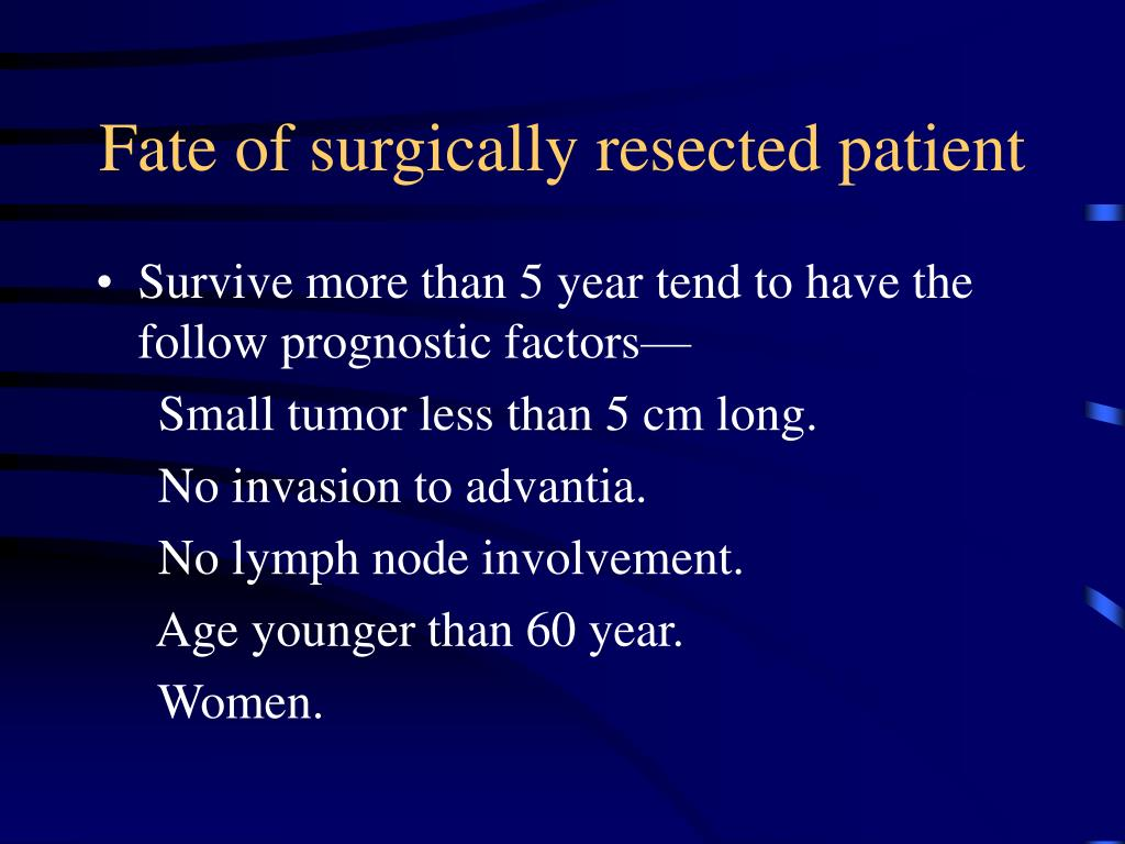Fate of surgically resected patient