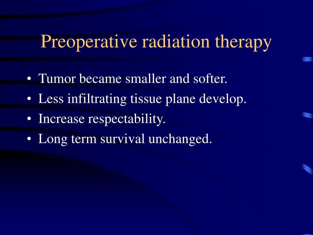 Preoperative radiation therapy
