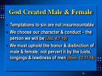 god created male female