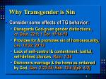why transgender is sin